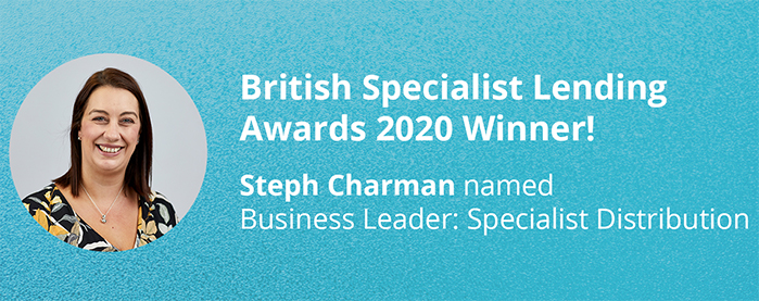 Steph Charman Named Business Leader: Specialist Distribution At British Specialist Lending Awards 2020